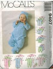 9407 Vintage McCalls Sewing Pattern Infants Preemie Layette Stretch Knit Gown
