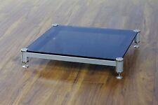Beautiful VTI BLG404SSB-01 Audio Clear Glass Amp Stand, Brand NEW