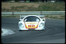 021036 White Racing Car Frontal A4 Photo Print