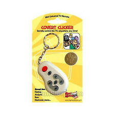 Covert Clicker-Mini Universal Remote Control-TV Channel Changer-Fun Gag Gift-New