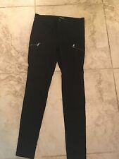 Express Sz 6 Black Cargo Legging Pants
