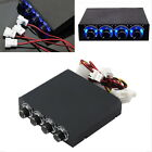 "3.5"" BAY PANEL 4 X PC COMPUTER LED COOLING FAN SPEED TEMPERATURE CONTROLLER 10V"