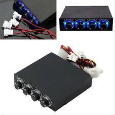"""3.5"""" BAY PANEL 4 X PC COMPUTER LED COOLING FAN SPEED TEMPERATURE CONTROLLER HT"""