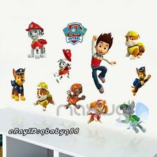 11pcs Paw Patrol Dogs Logo Wall Stickers Decals Baby Kids Nursery Decor Murals
