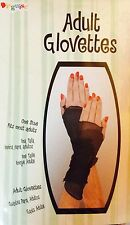 Disguise Adult Glovettes one size, retro 80's look, punk, rock, goth, black