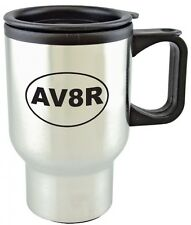 """AV8R"" Travel Mug - Aviation Coffee Cup  - Hot/Cold - Gift for Pilots & Aviators"