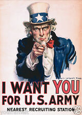 I WANT YOU / Uncle Sam 5 x 7 GLOSSY Photo Picture