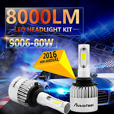 80W 8000LM PHILIPS LED HEADLIGHT BULBS 9006 HB4 9012 6000K HIGH POWER LOW BEAM