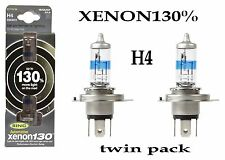 Ring 130% Super Bright White Xenon Upgrade H4 Bulb Twin Pack xenon130% RW3372