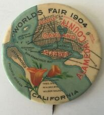1904 World's Fair St Louis, Alameda County, Oakland Pin