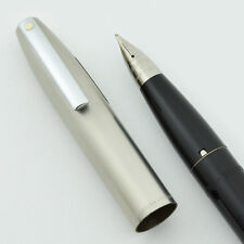 Sheaffer Imperial II Deluxe Fountain Pen - Black Medium Touchdown, New Old Stock