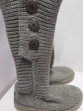 Genuine Ugg Australia Classic Crochet Tall Boots UK 5.5 Euro 38.5 in Grey