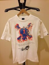 Authentic Stussy CUSTOMADE Daggers Drawn Large T-Shirt White Number 3 Rare