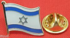 Israel Flag Star of David Lapel Hat Cap Tie Metal Pin Badge Māḡēn Dāwīḏ Hexagram
