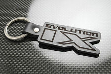 Mitsubishi EVO 9 Leather Keyring Schlüsselring Porte-clés Evolution IX Lancer MR
