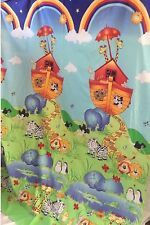 Cotton Blend Sheeting Fabric Noah's Ark Animals Large Panel 125cm wide x 190cm
