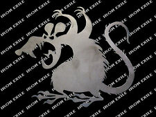 Scary Rat Metal Silhouette Hot Rod Garden Garage Decor Mice Mouse Cut Out