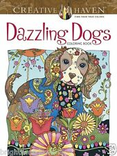Dazzling Dogs Dog Lovers Adult Colouring Book Creative Gift Animals
