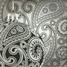 4x partito unico Pranzo Tovaglioli di carta per Decoupage Decopatch elegante palla di vetro