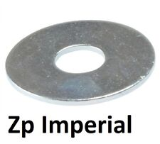"""Qty 100 Mudguard Washer 5/16"""" x 1.1/4 x 16g Imperial Steel Zinc Plated ZP Fender"""
