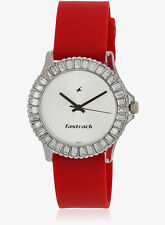 FASTRACK Trendy Red Strap Watch for Girls NG9827PP08J