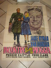 MANIFESTO,,INCONTRO SOTTO LA PIOGGIA ,MIRACLE IN THE RAIN,Jane Wyman,V.Johnson ,