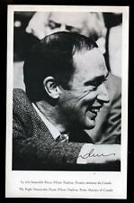 Vintage Pierre Trudeau Prime Minister of Canada 1960's Signed Photo!