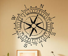 Compass Wall Decal Wind Rose Marine Vinyl Sticker Removable Art Decor 53(nse)