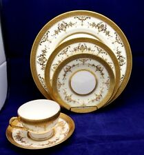40 pc Minton Riverton Gold  Dinner Set for 8 Bone China Made in England