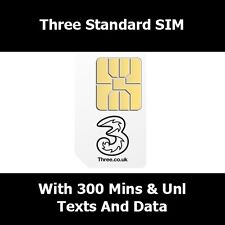3G Three Network Standard Sim Card For All Smart Phones - Three Network SIM Card