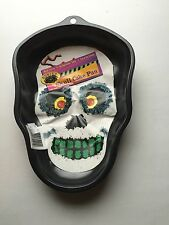 Rubies Halloween Party SKULL Cake Pan Non-Stick DIY Cake Bakeware Mold Old Stock