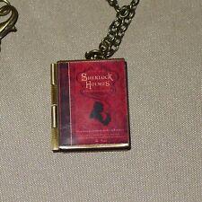 Sir Arthur Conan Doyle SHERLOCK HOLMES & WATSON book charm LOCKET necklace