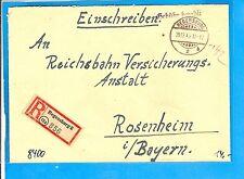 Gebühr bezahlt / REGENSBURG 2h 28.12.45 Alt-Gitter-Stpl. a. Bed.-E.-Brief