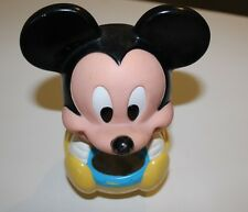 DISNEY MICKEY MOUSE VINTAGE ROLY POLY CHIME TOY BALL 1984