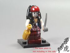 B257 Pirates of the Caribbean Captain Jack sparrow Skeleton minifigures fit lego