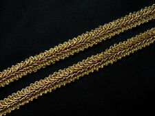 "GB59 3/8"" Metallic Gold Trim Gimp Braid Lace Edging Upholstery Craft 10yards"