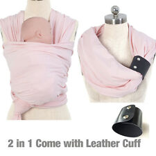 Allis Baby Sling Wrap Carrier Birth to 3YRS Breastfeeding with Cuff - Pink
