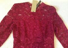 Gorgeous *Coast* (Size Uk 10) Cassia Lace Sleeved Dress , Red BNWT