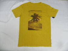 Nixon Men Palm Yellow Short Sleeve Medium T-Shirts
