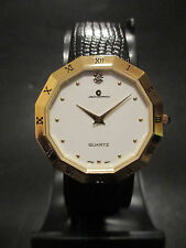 C17 NEW JB CHAMPION Gold Dress Genuine Leather Band WATCH VINTAGE Classy Roman N