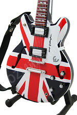 Miniature Guitar OASIS Noel Gallagher Union Jack & Strap