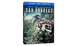 San Andreas Limited Edition Steelbook Blu-ray + DVD + Digital New SEALED