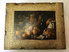 Vintage Florentine Wood Wall Plaque -Made in Spain