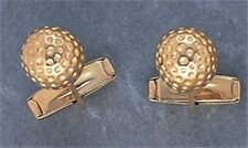 GOLF GIFT - GOLD STYLE GOLFBALL CUFFLINKS - BNIB - BAG BALL IRON TEE WOOD PUTTER