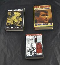 Lot Of 3 Live Baghdad Guts Glory Oliver North Blind Mans Bluff Submarine   F6O4