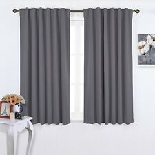 Nicetown - Pair of Back Tab / Rod Pocket Thermal Insulated Blackout Curtains ...