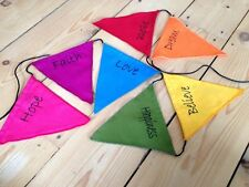 CHAKRA AFFIRMATION BUNTING FLAGS FAIR TRADE MEDITATION ETHNIC NEW AGE REIKI