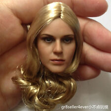 1/6 Head Sculpt beautiful blond hair sexy girl fit hot toys kumik female body