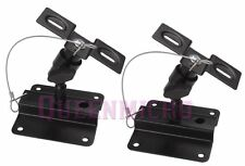2 PC Set Heavy Duty Steel Adjustable Speaker Ceiling Wall Mount Brackets 1 Pair