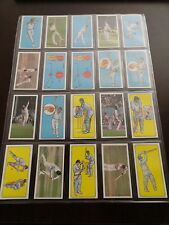 1980 GEO. BASSETT & CO. PLAY CRICKET SET OF 50 CARDS.